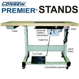 Consew Premier Industrial Sewing Stand Table