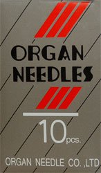 Organ Needles 15x1 Size 12 Embroidery 10 count