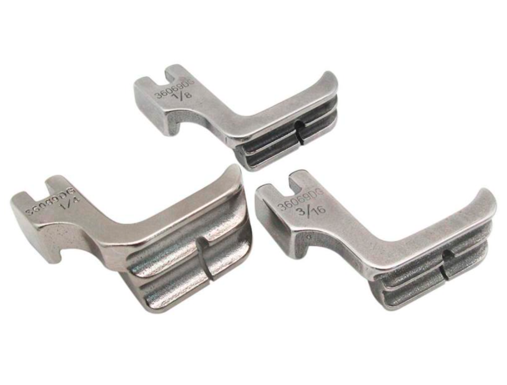 High Shank Double Welting / Piping Foot for Industrial Single Needle Sewing Machines 36069L