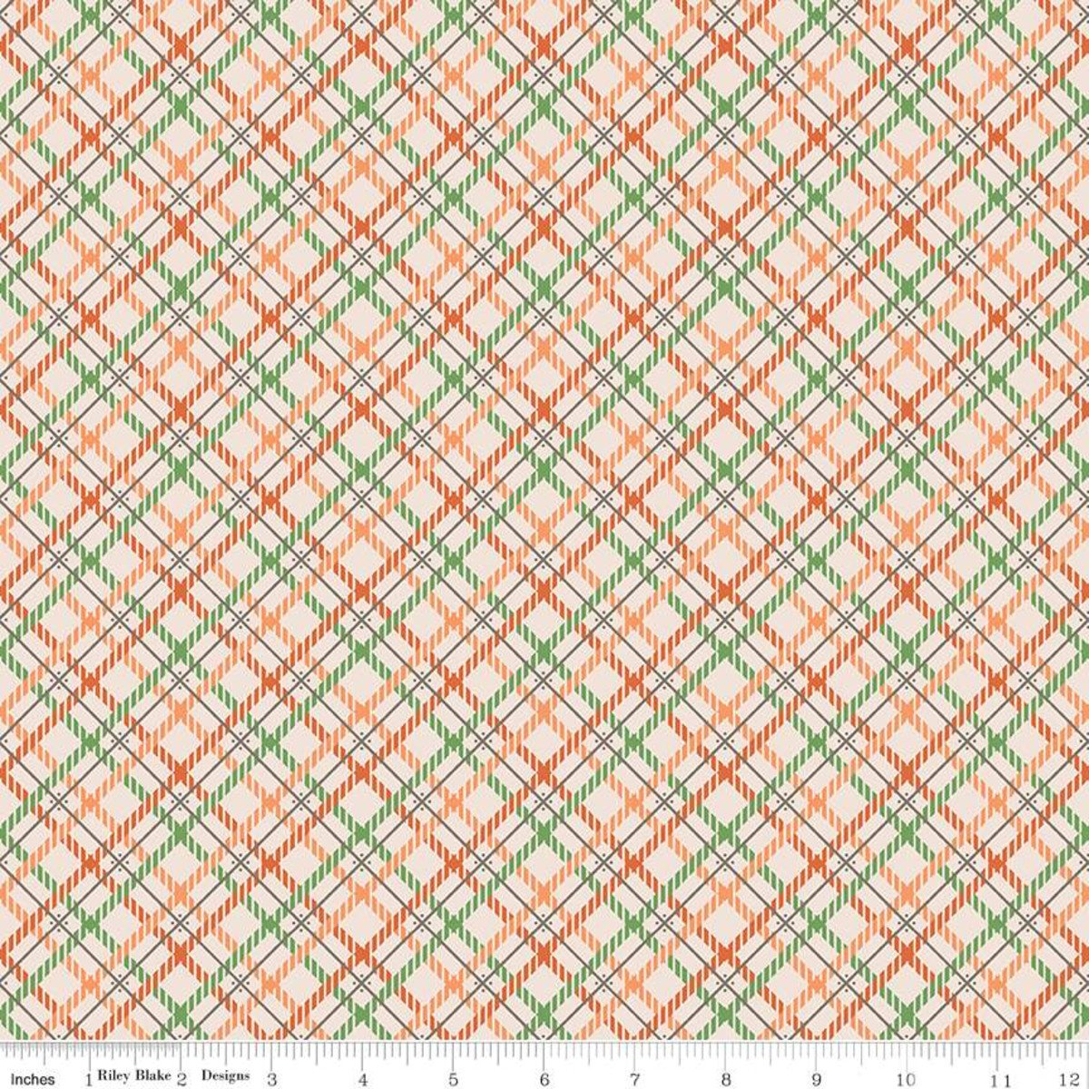 Fat Quarter WILD BACK GREEN Prim Cotton Riley Blake Fabric