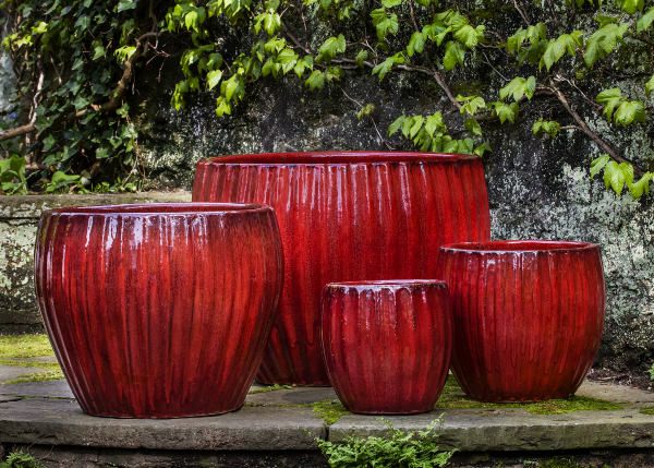 ANDROMEDA PLANTER-RED-MD