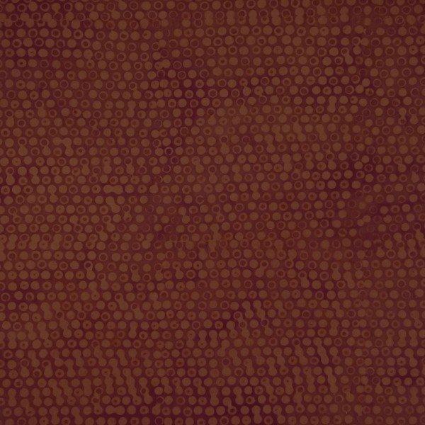 Batiks Cappuccino Small Rust Circles