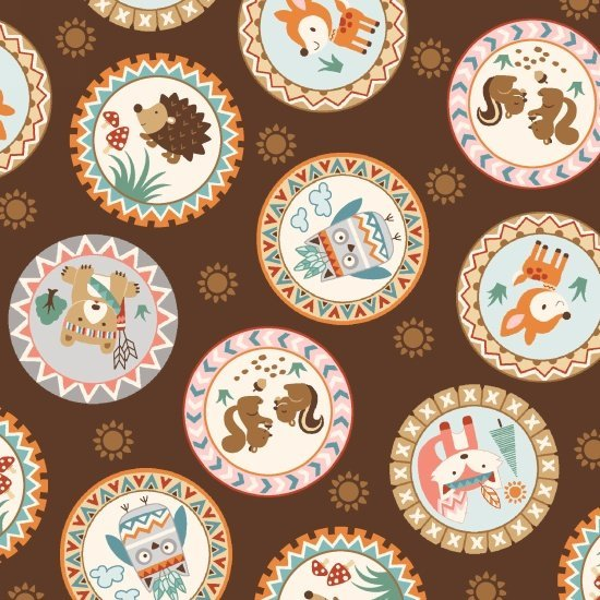 Camp Along Critters Badges/Brown