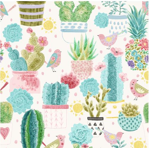 Sun N' Soil Cactus With Bird