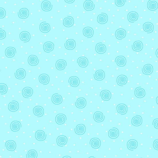Comfy Light blue ground with dark blue squiggles and tiny white dots flannel