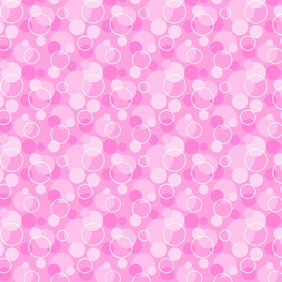 Comfy Flannel Prints Bubbles Pink