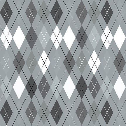 Flannel Gray Argyle