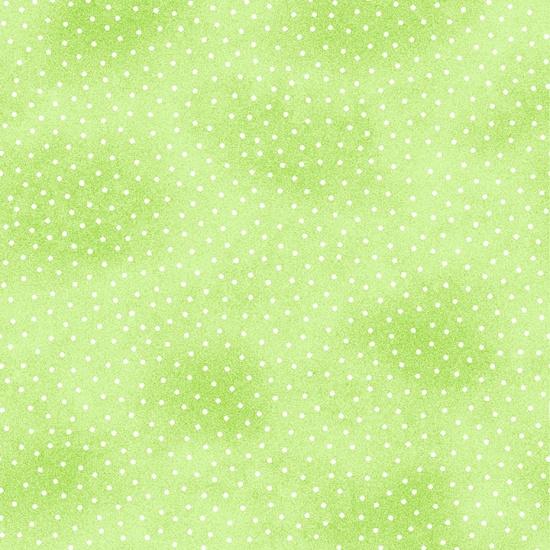 Lime Green Mini Dot Flannel