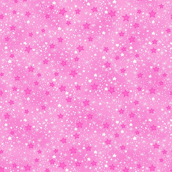 Comfy Flannel Prints Pink Stars
