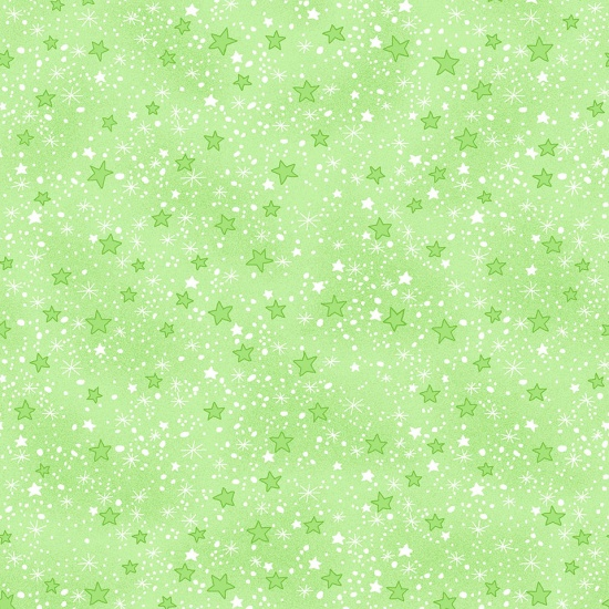 Comfy Flannel Prints Green Stars