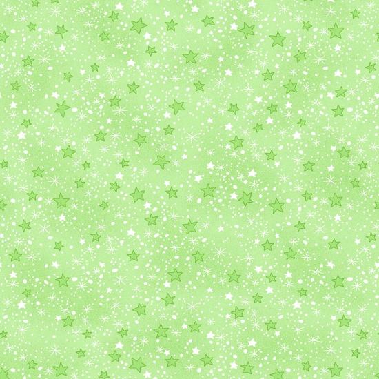 Comfy Flannel Prints Green Stars