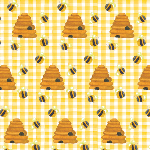 Yellow Beehives Comfy Flannel