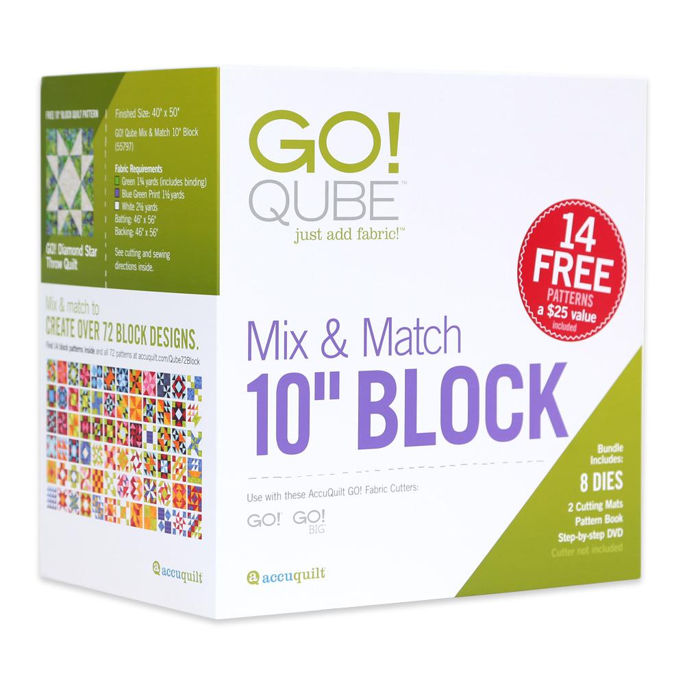 Accuquilt GO! Qube Mix & Match 10 Block 55797
