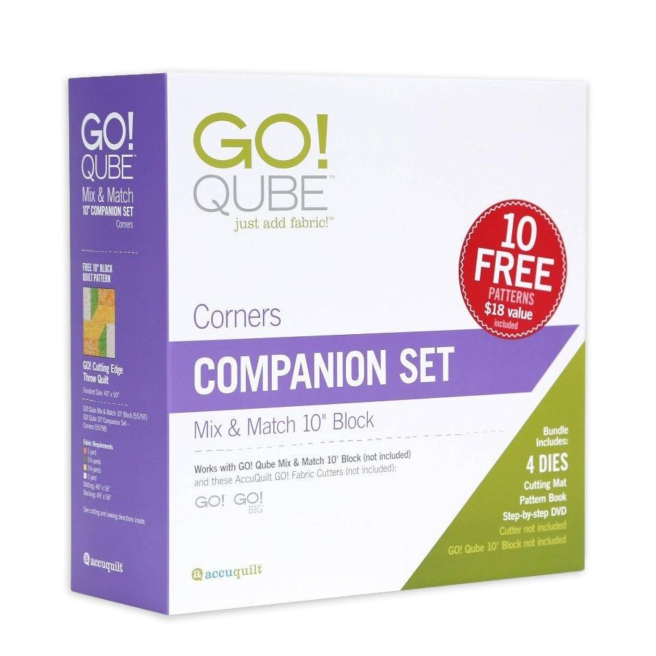 Accuquilt GO! Qube 10 Companion Set - Corners 55798