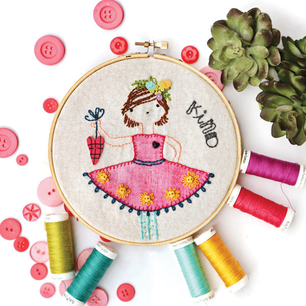 Sunshine Girls July Artplay Stitchery Evangeline