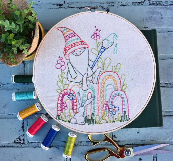 Gnome Life May Artplay Stitchery Pattern
