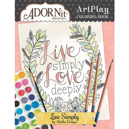 Adorn It Art Play Coloring Book - Live Simply