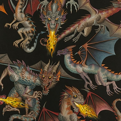 Tale of the Dragons - Cotton Print