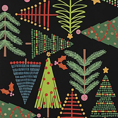 Holiday Pines/Black: Christmas Time (Alexander Henry)