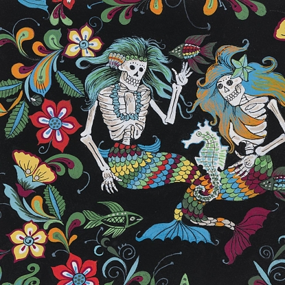 Alexander Henry Fabrics Esqueletos del Mar-8718B