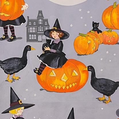 Alexander Henry Halloween - Tabitha, Gray 8742A