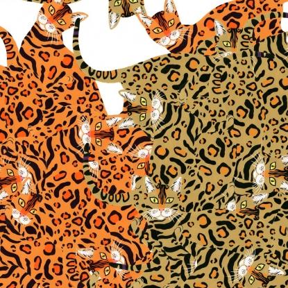 Kenyan Cat- Orange - 8801A