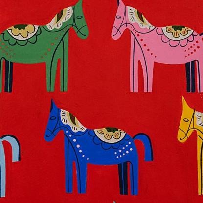 Folklorico Carita Caballo Red 8809D