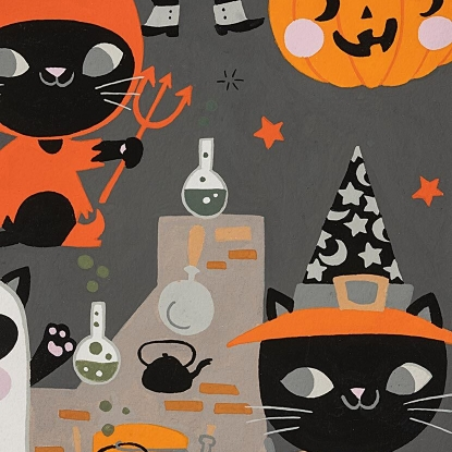 Costume Kitty in Charcoal