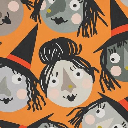 Cotton Poplin- Which Witch is Which?- Orange STH#11229629