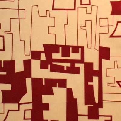 Logan red cotton lawn