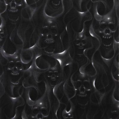 Skulls on Fire - Alexander Henry Fabrics - Skull Flames