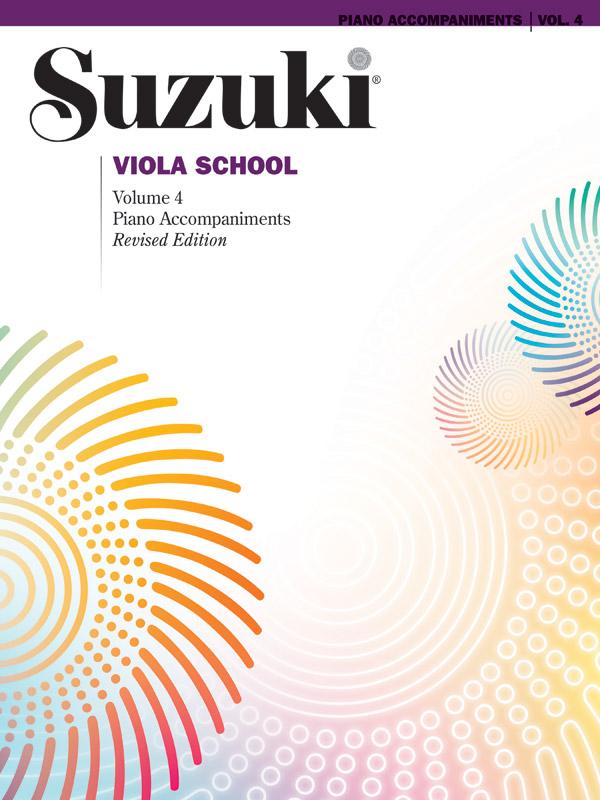 SUZUKI VIOLA SCHOOL 4 PIANO ACCOMPANIMENT (0275S ) (Viola Methods )