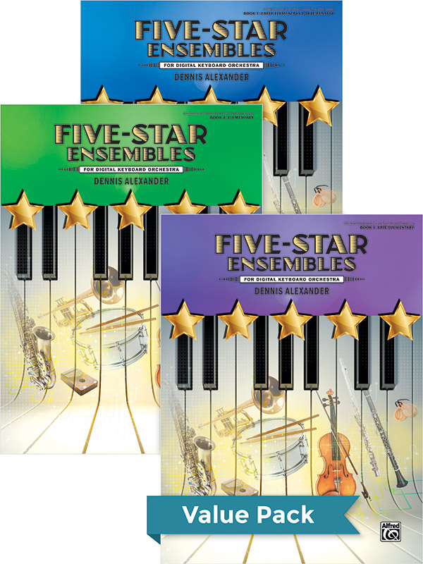 FIVE STAR ENSEMBLES 1 - 3 VALUE PACK FOR DIGITAL KEYBOARD OR