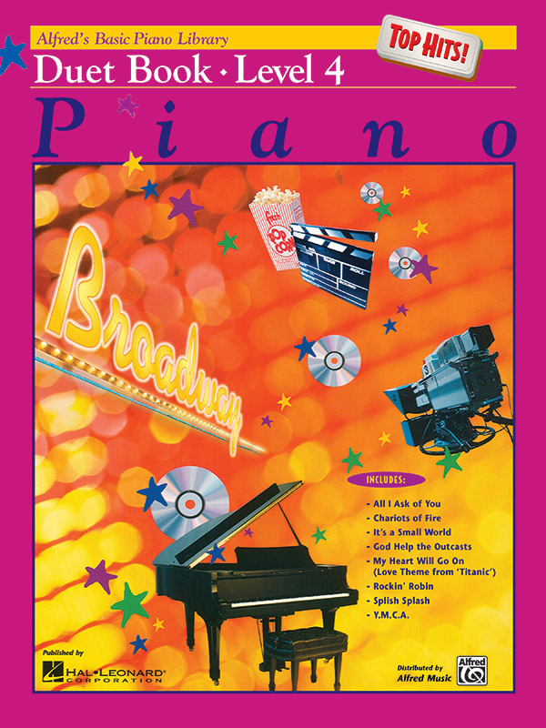 Alfred's Basic Piano Course Top Hits Duet Book Book 4: Piano Solo