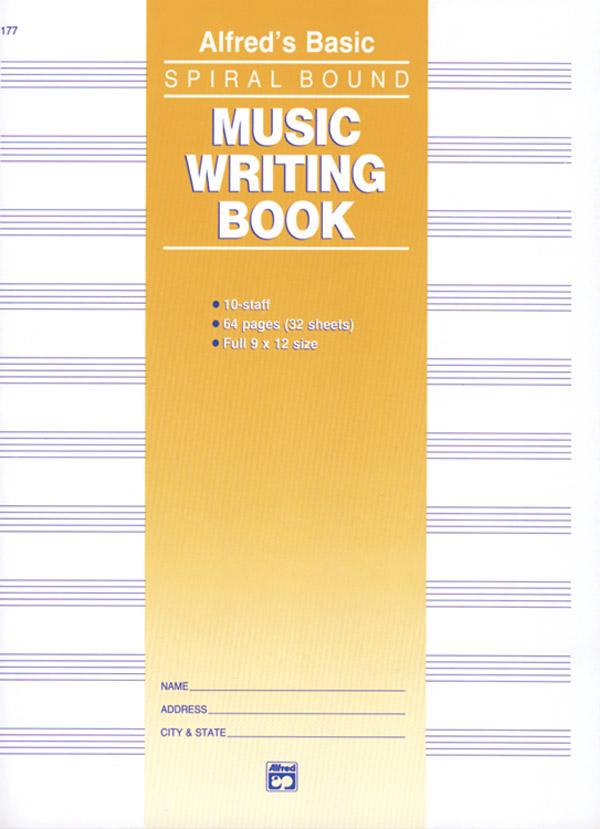 ALFREDS BASIC MUSIC WRITING BOOK 10 ST 64 PG SPIRAL (177 ) (Manuscript )