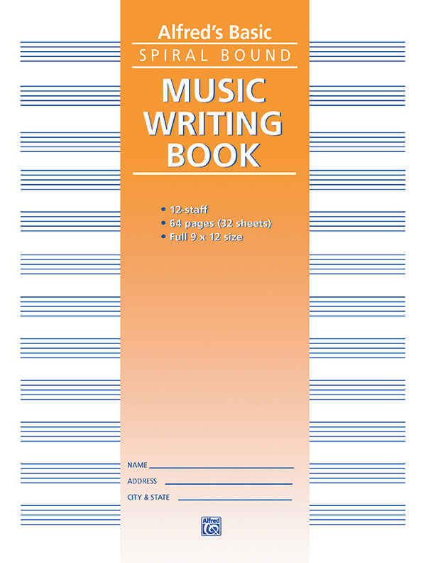 ALFREDS BASIC MUSIC WRITING BOOK 12 ST 64 PG SPIRAL (179 ) (Manuscript )