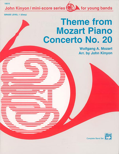 THEME FROM MOZART PIANO CONCERTO NO 20 GRADE 1 MOZART KINYON