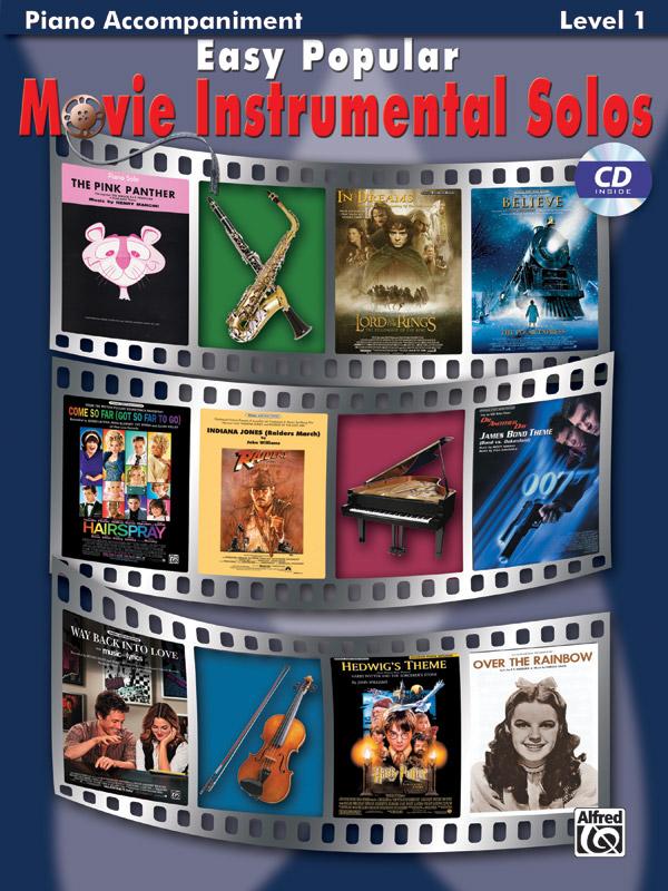 EASY POPULAR MOVIE INSTRUMENTAL SOLOS BKCD BDMTV (28162 ) (Piano Accompaniment Books )