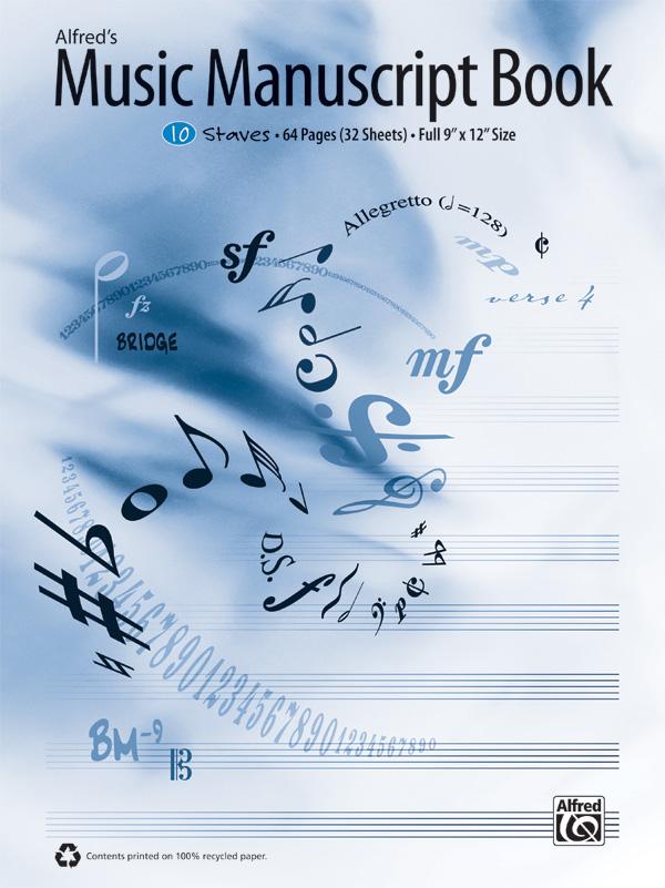ALFREDS MUSIC MANUSCRIPT BOOK 10 ST 64 PG (33883 ) (Manuscript )