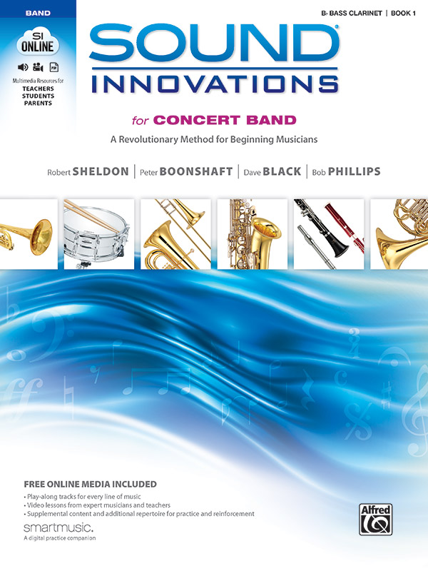 SOUND INNOVATIONS FOR CONCERT BAND 1 CLARINET BB BASS SHELDO