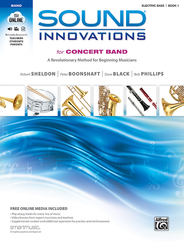 SOUND INNOVATIONS FOR CONCERT BAND 1 ELECTRIC BASS SHELDON B