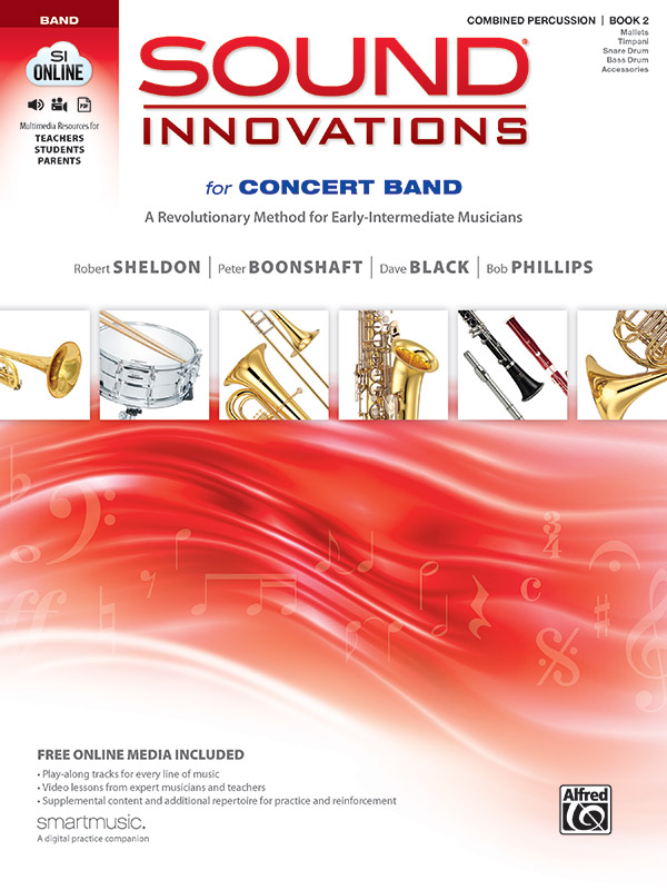 SOUND INNOVATIONS FOR CONCERT BAND 2 COMBINED PERCUSSION SHE