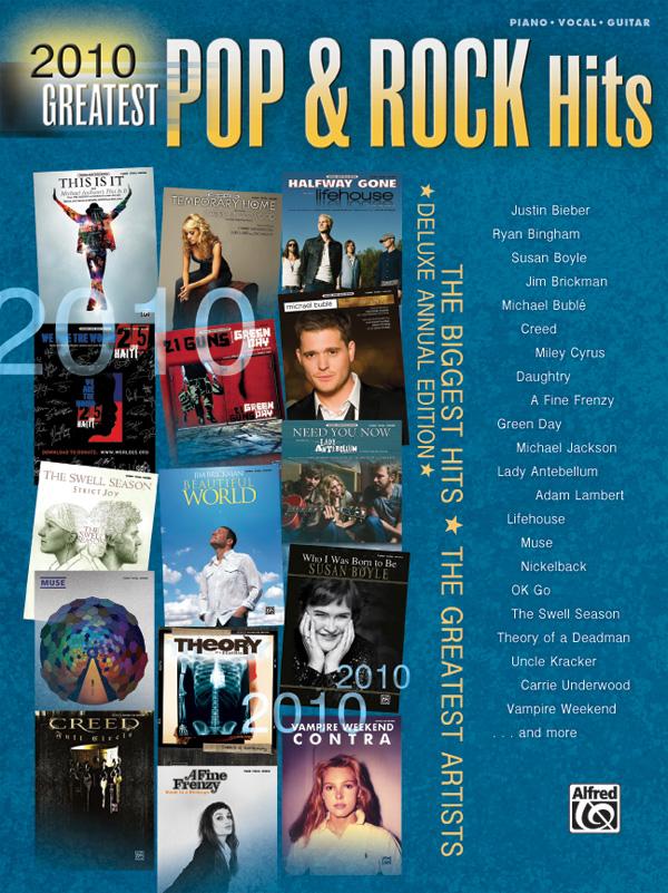 2010 Pop & Rock Hits Book
