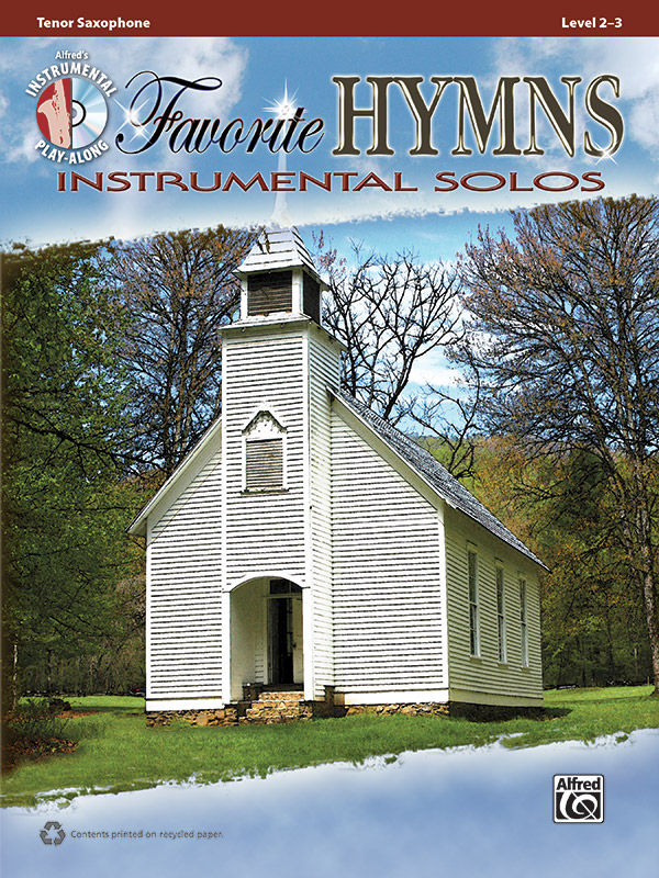 Favorite Hymns Instrumental Solos Book & CD Tenor Sax