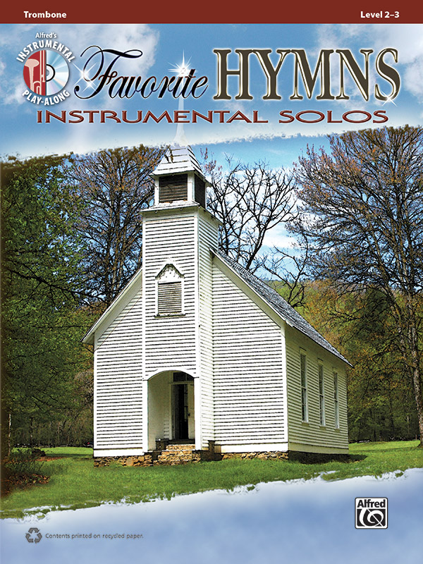 Favorite Hymns Instrumental Solos Book & CD Trombone