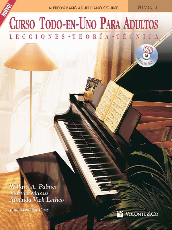 CURSO TOD EN UNO PARA ADULTOS 1 PALMER MANUS LETHCO SPAN (41998 ) (Piano Methods )