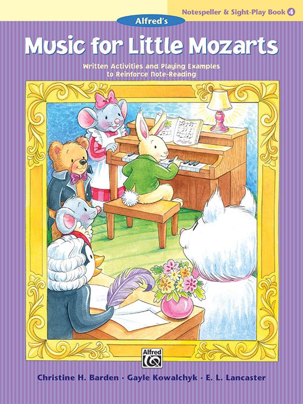 MUSIC FOR LITTLE MOZARTS 4 NOTESPELLER & SIGHT PLAY BOOK BAR (45127 ) (Piano Methods )