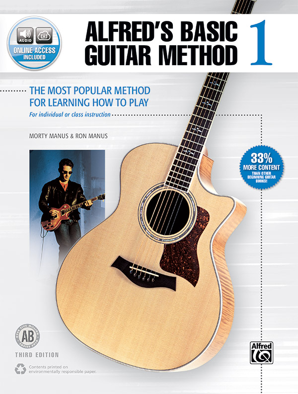 Alfred's Basic Guitar Method 1 (Third Edition) - Guitar Book & Online Audio
