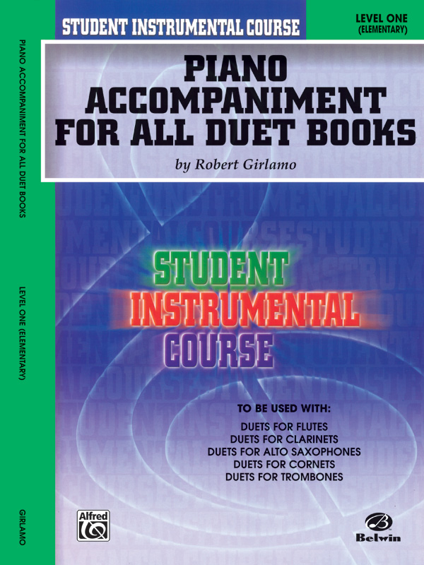 DUETS FOR STUDENTS 1 PIANO ACCOMPANIMENT FOR ALL DUET BOOKS (BIC00188A ) (Piano Accompaniment Books )