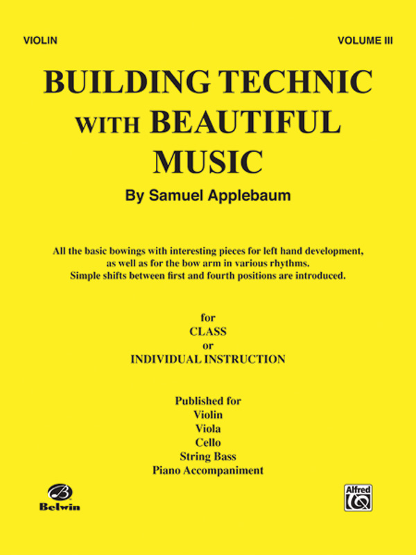 BUILDING TECHNIC WITH BEAUTIFUL MUSIC 3 VIOLIN APPLEBAUM